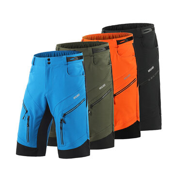 ARSUXEO Men's Cycling Shorts Loose Fit Bike Shorts Outdoor Sports Bicycle Short Pants MTB Mountain Shorts Water Resistant   bike pants