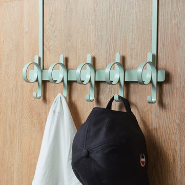 BIBI Over the Door Back 5 Hook Organizer Rack Nordic Style Multifunction Storage Hanger Bathroom Kitchen Home Clothes Towel Holder from Xiaomi Youpin