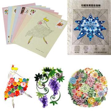 18 CÁI DIY Phát hành Bản vẽ Định vị Công cụ Quilling Giấy Craft Paper Art Collection Set