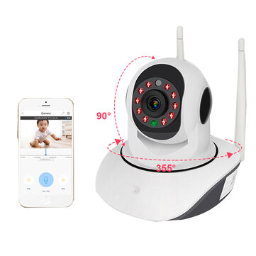 Wireless WIFI HD 1080P Smart IP Camera Night Vision Motion Detect 360° PTZ Two Way Talk