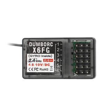 DUMBORC X6FG 2.4G 6CH přijímač s gyroskopem pro dálkový ovladač RC X6