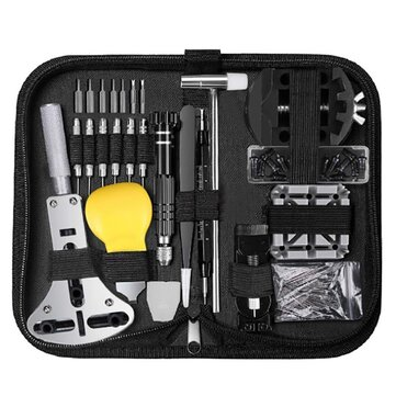 153 Pcs Watch Repair Tools Kit Professional Spring Bar Watch Battery Replacement Watch Band Link Pin Tool Set