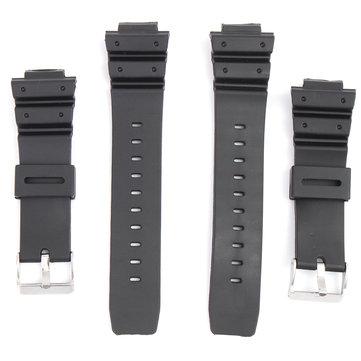16mm Silicone Black Strap Watch Band Penggantian dengan Pin untuk Casio G-Shock Lebih Banyak Model