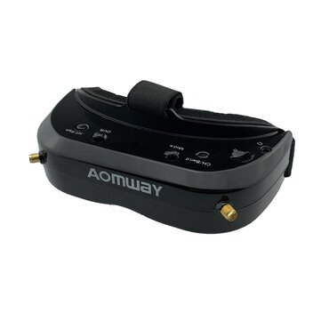 AOMWAY Commander V1S FPV Goggles 5.8Ghz 64CH Diversity 3D HDMI Built-in DVR Fan Support Head Tracking For RC Racing Drone