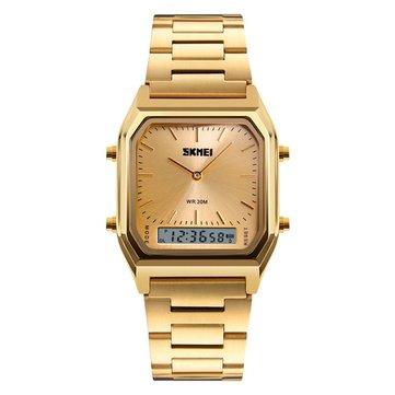 Đồng hồ SKMEI 1220 Hợp kim 30M Chống nước Sáng Kinh doanh Classic Đồng hồ đeo tay kỹ thuật số Quartz