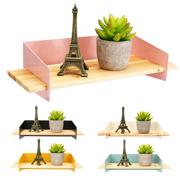 Nordic Wall Shelf Household Wooden Hanging Holder Storage Wall Mount Rack Home Decorations