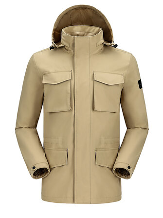 How can I buy Camel Crown Mens Waterproof Outdoor Multi Pocket Hooded Technical Jacket with Bitcoin