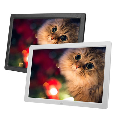 17 Inch HD LED Digital Photo Picture Frame Clock Music Movie Player with Remote Control