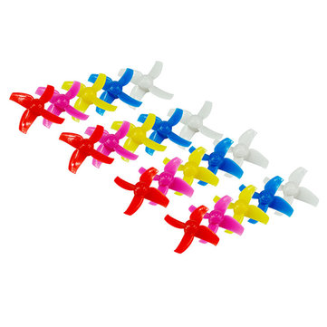 20PCS 40mm 4-blade Propeller for Kingkong/LDARC TINY R7 7/7X Inductrix FPV + RC Drone Quadcopter