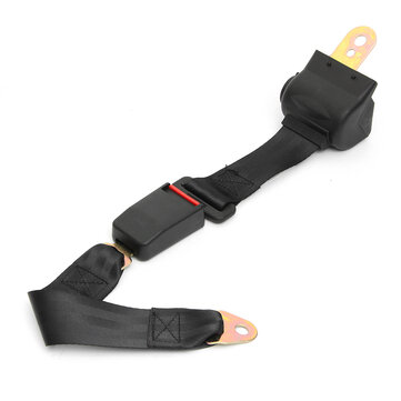 Universal Adjustable 2 Point Retractable Car Safety Seat Belt Buckle