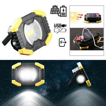 XANES® Y2F 50W LED COB Lamp Solar USB Rechargeable Portable Work Floodlight IP65 Waterproof Floodlight Tent Camping Light Lantern