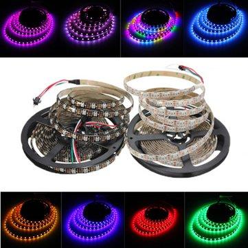 5M 45W 150SMD WS2812B LED RGB Colorful स्ट्रिप लाइट वाटरप्रूफ IP65 व्हाइट / ब्लैक पीसीबी DC5V