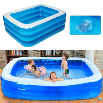 IPRee® 1~3Persons 188cm*142cm*68cm Three-Layer Inflatable Pool Summer Swimming Garden Outdoor Inflatable Swimming Pool For Children Adult for sale in Bitcoin, Litecoin, Ethereum, Bitcoin Cash with the best price and Free Shipping on Gipsybee.com