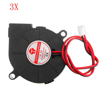 3pcs 24V 0.15A 5015 Sleeve Bearing Brushless Turbo Cooling Fan with 2Pin XH2.54 Wire for 3D Printer
