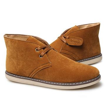 Hombre Soft Zapatillas altas de cuero en ante Botas
