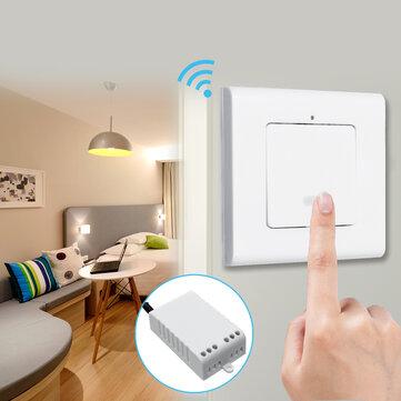 Lámapra de Pared Unidireccional Interruptor de Luz de ENCENDIDO/APAGADO de Control Remoto Inalámbrico + Receptor AC220V