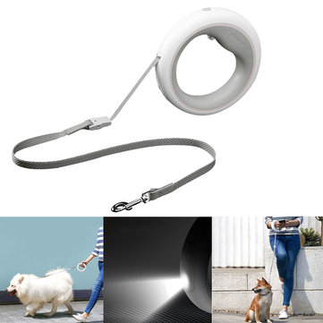 MOESTAR UFO 2.6m Retractable Pet Leash Rechargeable LED Night Light 50kg Static Tension Dog Traction Rope From Xiaomi Youpin