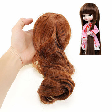 BBGirl BJD Doll Brown Hair For DIY 30cm 35cm Doll Accessories Toy