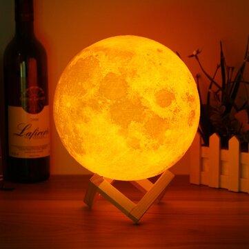 20cm 3D Magical Two Tone Moon Table Lamp USB Charging Luna LED Night Light Touch Sensor GiftIndoor LightingfromLights & Lightingon banggood.com