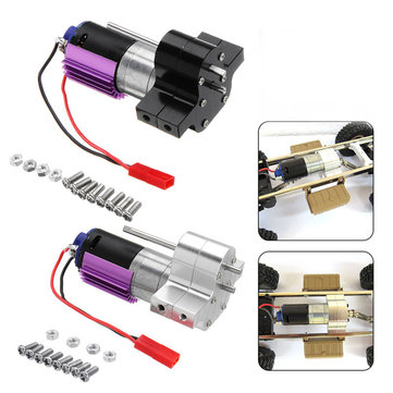 Upgraded Metal Transfer Gear Box with 370 Motor for WPL 1/16 4WD 6WD JJRC Q60 Q61