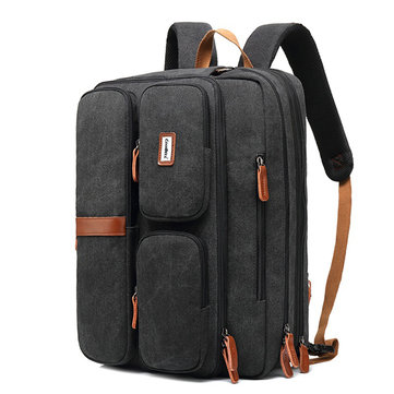 Men Multifunctional Laptop Backpack Waterproof Large Capacity Business Crossbody Bag
