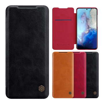 NILLKIN Flip Shockproof with Card Slot Holder Full Cover PU Leather Vintage Protective Case for Samsung Galaxy S20