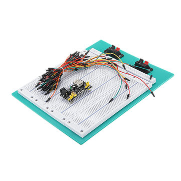 DIY Kit SYB-500 PCB Solderless Combination Breadboard + MB102 Power Module + 65 Jumper Cables