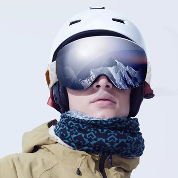 Buy TS Double Spherical Adult Skiing Goggles Outdoor 180° REVO Vacuum Coating Anti-fog Sliver/Red Lens+Night Vision Lens Winter Sport Goggles from xiaomi youpin with Litecoins with Free Shipping on Gipsybee.com