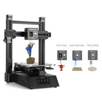 Creality 3D® CP-01 3-in-1 Stampante 3D fai-da-te Kit supporto macchina modulare Laser Incisione / Taglio CNC 200 * 200 * 200 Dimensioni di stampa con schermo da 4,3 pollici / Ripristino di potenza / Vetro rimovibile Piatto / Livellamento intelligente