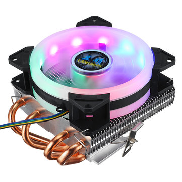 CPU Cooler 4 Heatpipes 90mm 4Pin LED RGB Cooling Fan for LGA 775/1155/1151/1150/1366 AMD