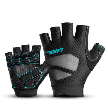 Motorcycle Riding Cycling Fitness Half Finger Protective Gloves Shockproof