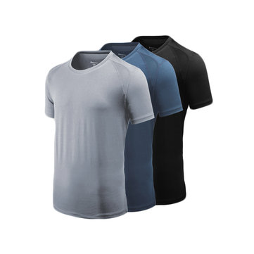 Giavnvay Men's Icy Sports T-Shirt Ultra-thin Quick-Drying Smooth Fitness Running T-Shirts From Xiaomi Youpin