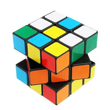 Topacc 5.3x5.3x5.3 Cuadrado portátil de colores vivos Magia Cube Puzzle Science Education Kids Toy Gift