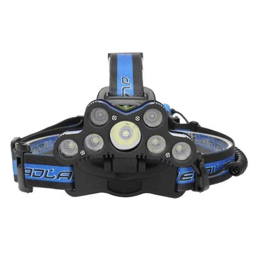 Buy BIKIGHT 2501-A 3600LM 7xT6 LED Headlamp USB 18650 Headlight Torch Rechargeable Lamp With SOS Help Whistle with Litecoins with Free Shipping on Gipsybee.com
