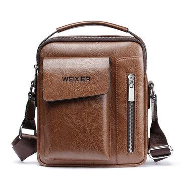 Men Vintage Multifunctional Crossbody Bag Shoulder Bag Handbag Business Bag For Outdoor