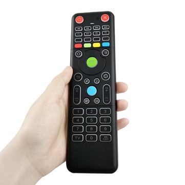 TZ18 2.4GHz 6-axis Gyro Air Mouse Mini Wireless Keyboard Dual-sided Handheld Remote Control Sensor for TV Box PC