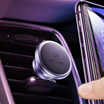 USAMS Strong Magnetic Air Vent Car Phone Holder Car Mount For 3.5-7.0 Inch Smart Phone iPhone Samsung Huawei Xiaomi