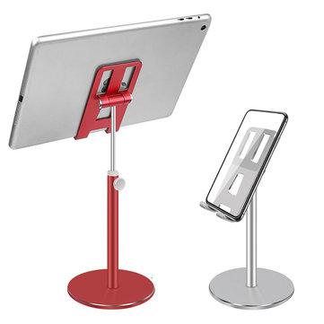 Bakeey 180 Degree Up Down Adjustable Aluminum Alloy Desktop Phone Holder Tablet Stand for Smart Phones Tablets 4.0-10.5 inch