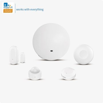 Buy eWelink Zig bee Smart Wireless Security Alarm System Hub Door Sensor PIR Sensor Temperature Humidity Sensor Button with Litecoins with Free Shipping on Gipsybee.com