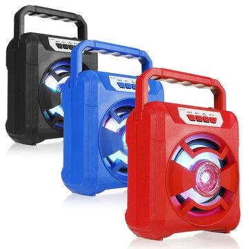 Portable AS101 bluetooth LED Light Hifi Speaker Outdoor Loudspeaker Support AUX USB TF FM
