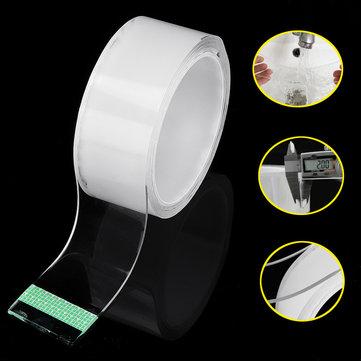 40mm*1m/3m*2mm Magic Tape Washable Adhesive Double-sided Nano Acrylic Sticker Traceless Tape