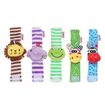 2PCS Baby Multi Style Cute Wrist Rattle Wrist Strap Novelties Toys for Kids Gift