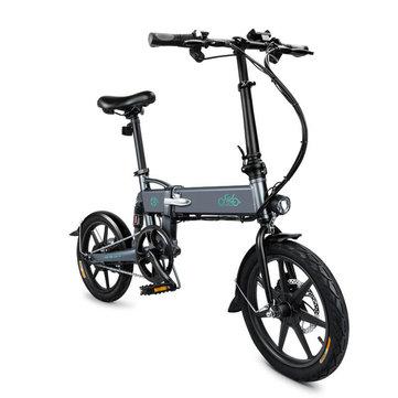 [EU Direct] FIIDO D2 36V 250W 7.8Ah 16 Inches Folding Moped Bicycle 25km/h Max 50KM Mileage Electric Bike