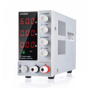 Minleaf NPS605W 110 V / 220 V 0-60V 0-5A Bộ nguồn DC kỹ thuật số có thể điều chỉnh 300W Bộ nguồn phòng thí nghiệm được điều chỉnh