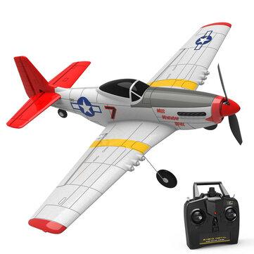 Eachine Mini Mustang P-51D EPP 400 mm Rozpiętość skrzydeł 2.4G 6-osiowy Gyro RC samolot trener Naprawiono skrzydło RTF One Klucz Powrót dla początkującego