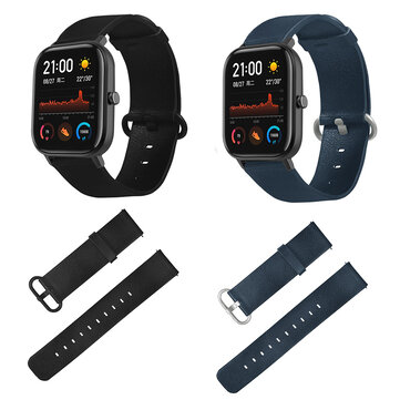 Bakeey Double-sided color Leather Watch Band for Amazfit GTS Smart Watch