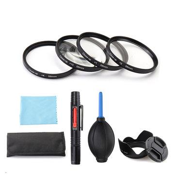 Primer plano + 1 / + 2 / + 4 / + 10 49/52/55/58/62/67/72/77 mm Lente Almacenamiento del filtro Bolsa Lente Soplador de tapa de campana Cepillo Kit Set