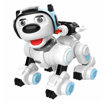 Mofun 1901 Smart Dog Programmable Infrared/Touch Control Patrol Dance Sing Shooting RC Robot Toy Gift