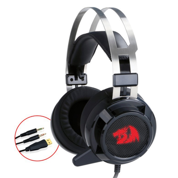 Redragon H301 Omnidirectional 3.5mm + USB Wired Gaming Headphone Virtual...
