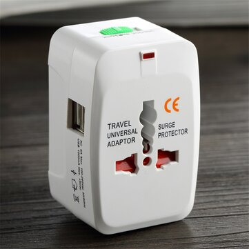 International AC Power Converter World Travel Wall Charger Adapter All in One